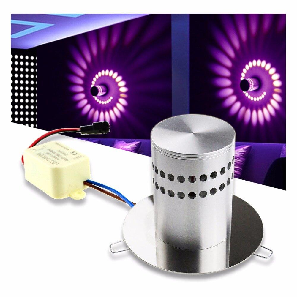 Современные светодиодный свет стены утопленный RGB Бра Творческий приспособление световой освещение бра для КТВ караоке-бар украсить комна...