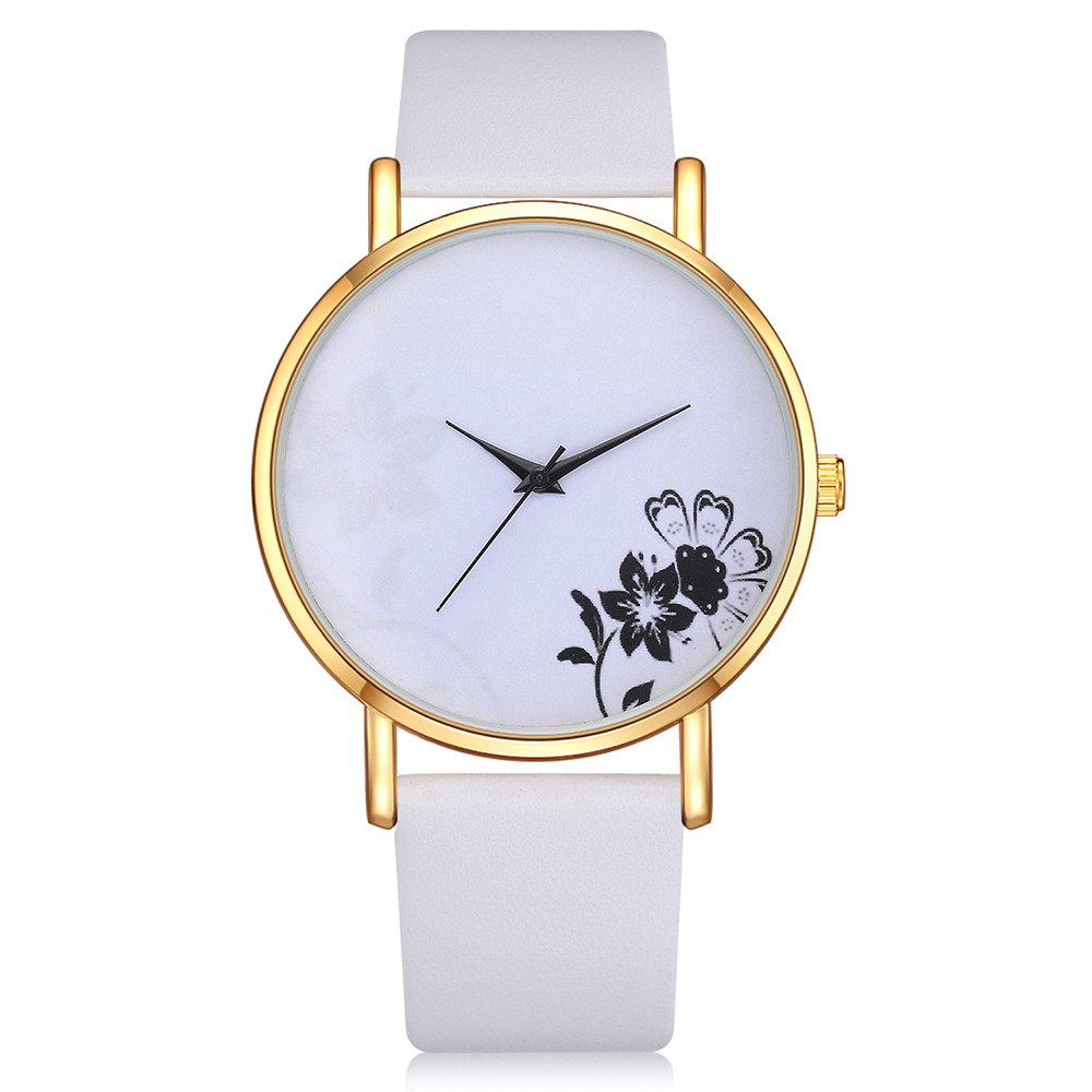 LVPAI New Leather Belt Women Watch Classic Minimalist Floral Print Dial Watch Gift Clock Analog Ladies Quartz Wrist Watches  #BLVPAI New Leather Belt Women Watch Classic Minimalist Floral Print Dial Watch Gift Clock Analog Ladies Quartz Wrist Watches  #B