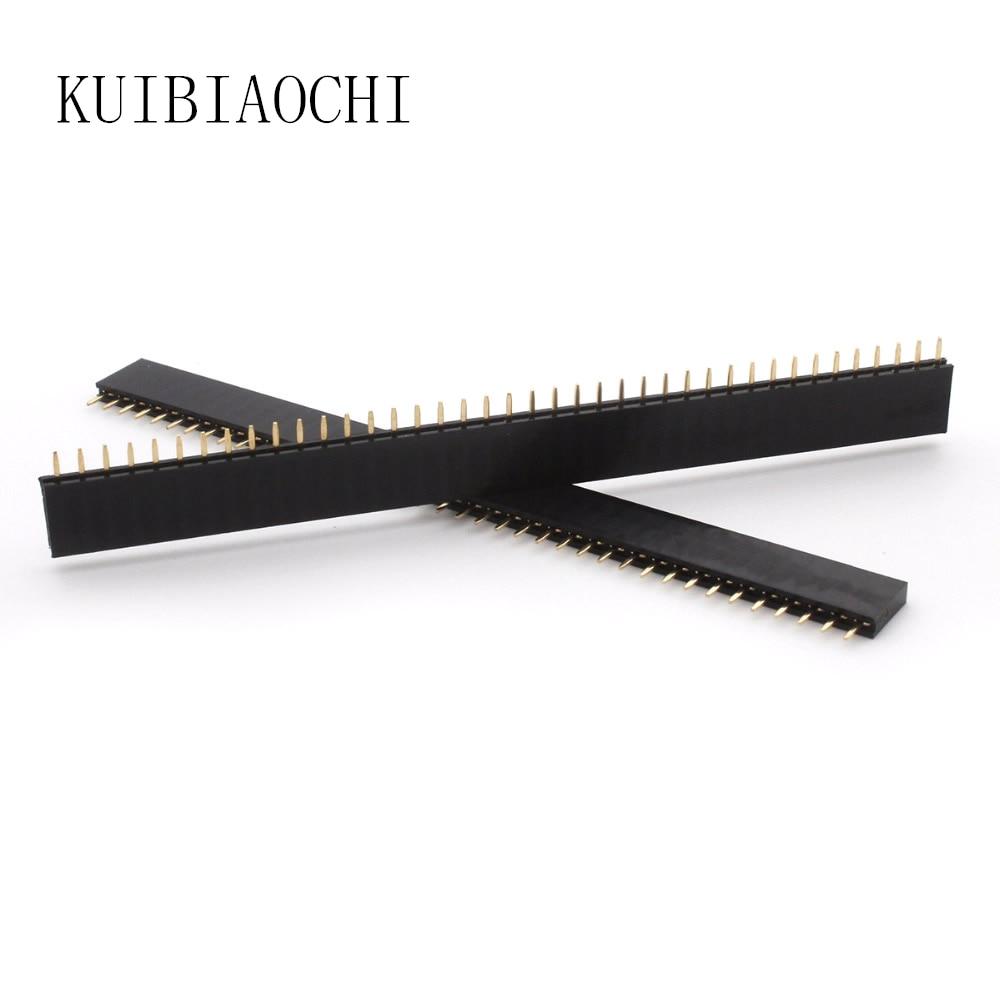 10pcs/LOT Female Pin Header Strip 40 Pin 2.54 Mm Single Row Female Pin Header 1x40 1*40 PIN