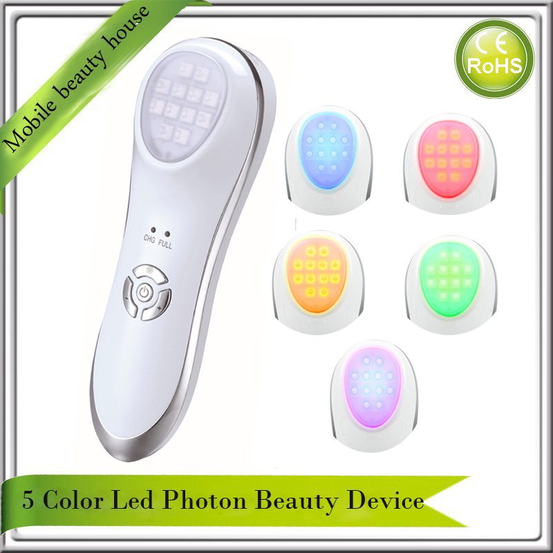 Mini Rechargeable Anti Aging Vibration Led Photon Light Therapy Wrinkle Freckle Spot Acne Remover Skin Lifting Beauty Device anti acne pigment removal photon led light therapy facial beauty salon skin care treatment massager machine