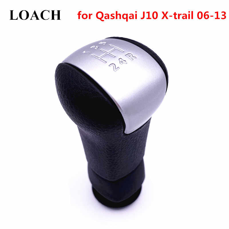 5 Speed MT Car Gear Shift Knob for Nissan Qashqai J10 X-trail 06-13 Manual Gearshift Shifter Lever Stick Pen Arm Head Ball POMO