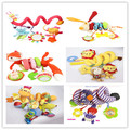 Cama Carrinho De bebê Pendurado Brinquedos Multiuso Círculo Redonda Com Papel Som e Espelho Caterpillar Crianças Presente Do Menino