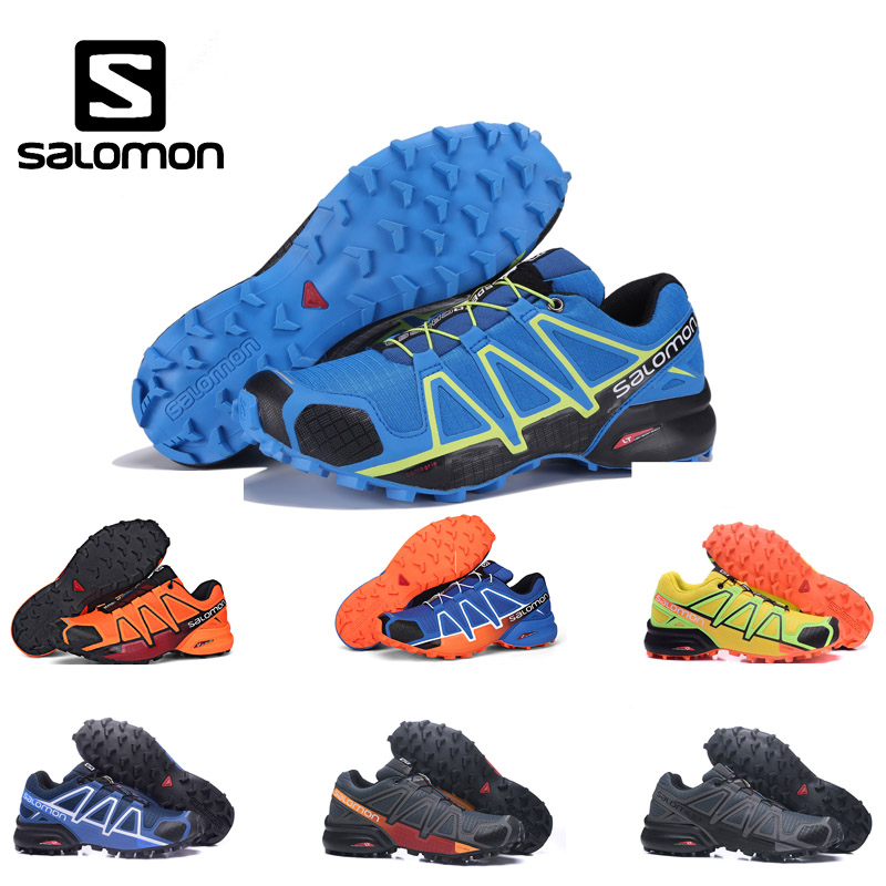 Salomon Shoes Men Speed Cross 4 CS Cross-country Running Shoes Male Sneakers Athletic Shoes Black White Grey Sport Shoes ботинки salomon ботинки shoes shelter spikes cs wp black bk ptr