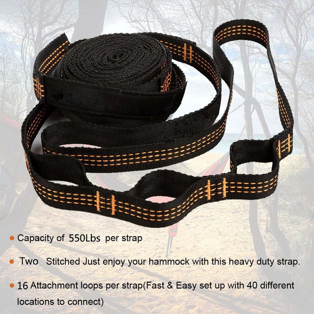 Super Strong Hammock Strap Hanging Hammock Belt Hamaca Hamak for Camping,Traveling,Portable Hanging Tree Rope Free shipping