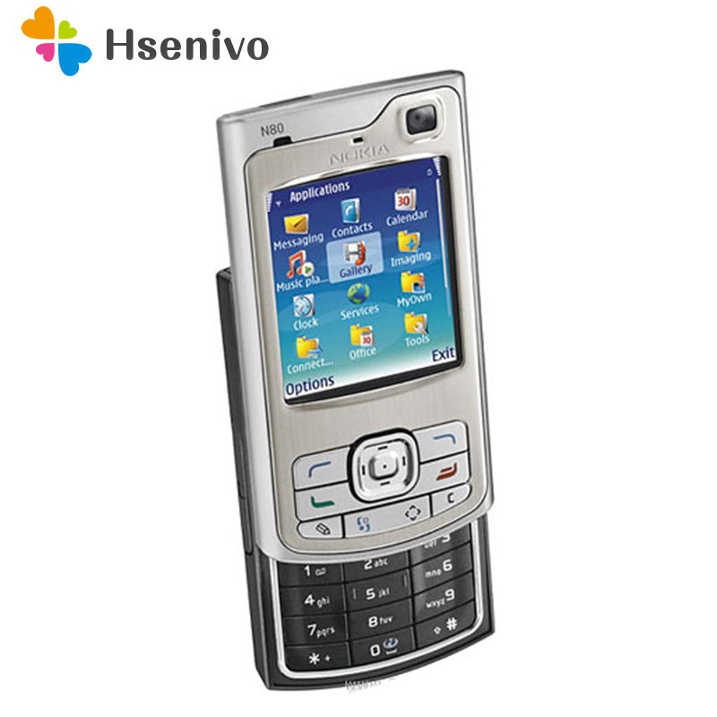 Unlocked Original Nokia N80 Mobile Phone 2G Unlocked One year warranty Free shipping