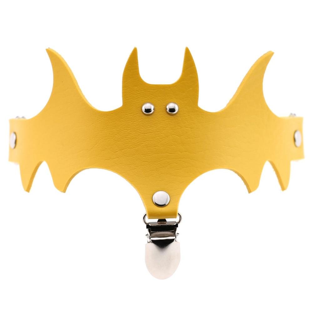 Willensstark Frauen Fledermaus Flügel Pu Leder Halsband Strumpfband Gürtel Bein Ring Clip Halloween Decor Zubehör Ql Verkauf Waren Des TäGlichen Bedarfs Hosenträger Damen-accessoires