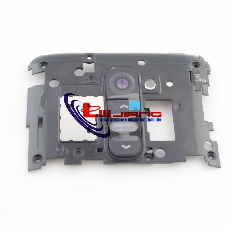 Original Back Housing Frame For LG G2 D800 D802  Camera Lens Glass Cover Replacement Repair Parts