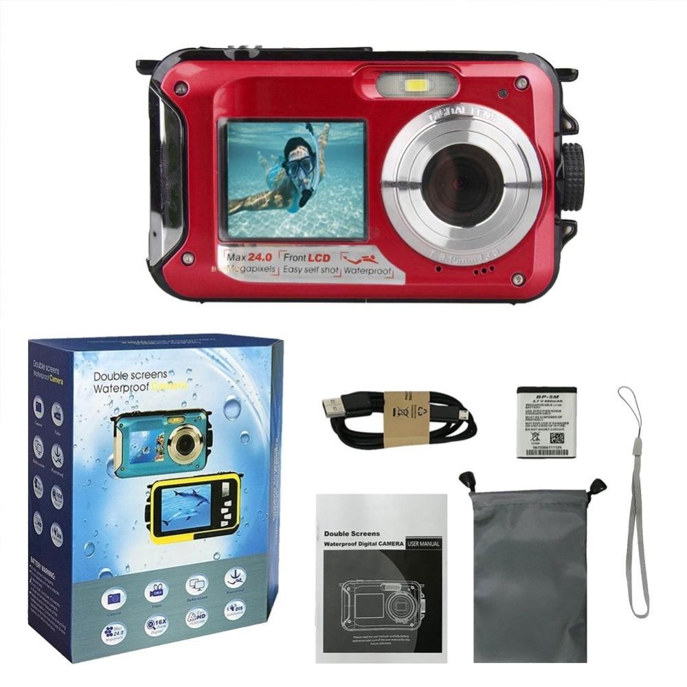 Computer & Büro WohltäTig Wasserdichte Unterwasser Digitalkamera 24mp 1080 P Dual Schießen Digital Video Recorder Kameras Punkt #275704 Um Eine Reibungslose üBertragung Zu GewäHrleisten