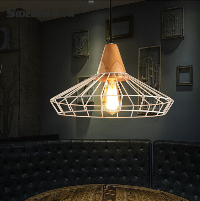 Free shipping iron frame pendant lights with wood parts pendant lamp free shipping iron frame pendant lights with wood parts pendant lamp aloadofball Image collections