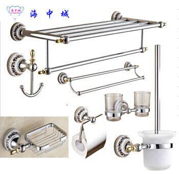 Free shipping!Bathroom Accessories Set,Towel shelf,Towel Bar ,paper holder, toilet brush holder,cup hold,cloth hook,soap holder free shipping wall mounted space aluminum black golden paper towel shelf phone toilet paper holder