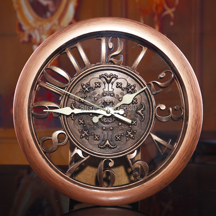 Creative Retro Wall Clock Home Decor Vintage European Watch Resin 11