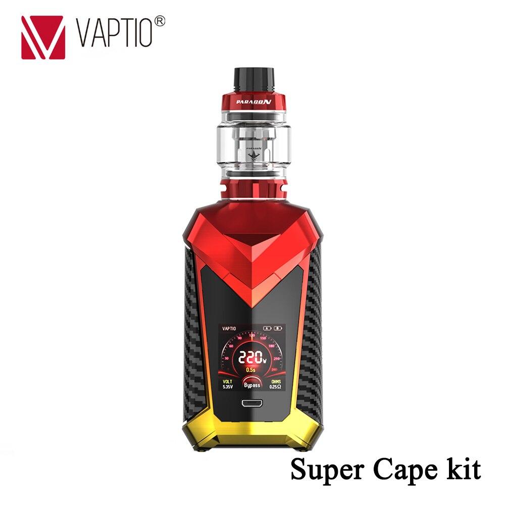 Kit E-cigarette Original Vaptio Super Cape Kits réservoir capacité 8.0 ml/2.0 ml 1.3 pouces écran TFT couleur HD et interface utilisateur cool