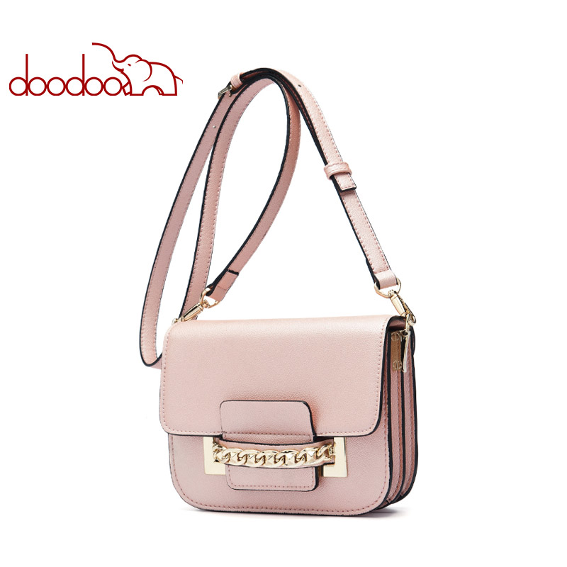 DOODOO Brand Fashion Women Bag Female Shoulder Crossbody Bags Ladies Artificial Leather Chain New Small 2 Colors Messenger Bags yuanyu 2018 new hot free shipping import crocodile women chain bag fashion leather single shoulder bag small dinner packages