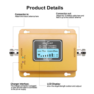 Image 4 - 3g Repeater 2100 Cell Phone Signal Repeater 2100MHz Mobile Phone Signal Booster Amplifier,LCD Mini 70db 3G LTE WCDMA UMTS