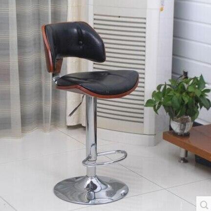 Bar Chairs European High-grade Solid Wood Buffet Chairs Retro High Chair Lift Swivel Chair At The Front Desk Furniture