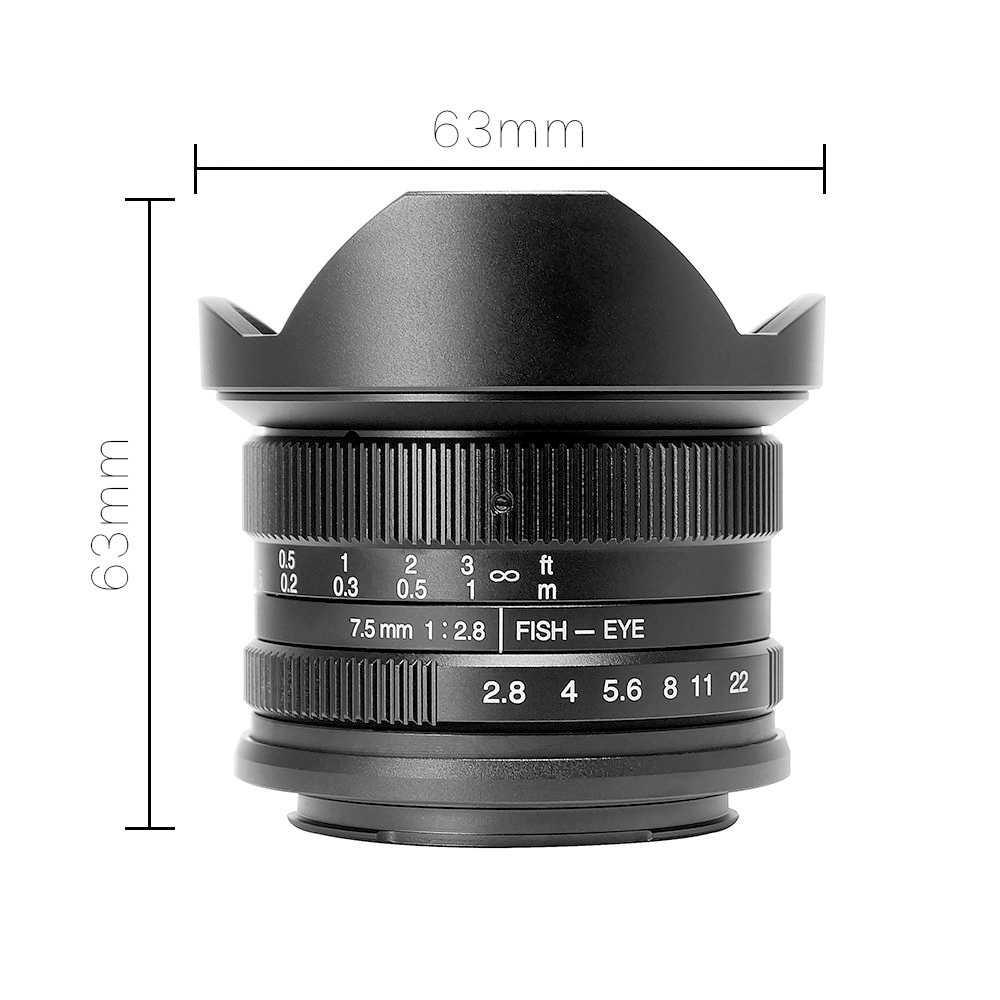 7artisans 7,5 мм f2.8 рыбий глаз 180 APS-C руководство установленные премиальные линзы для E Mount sony Canon EOS-M Mount Fuji FX Mount