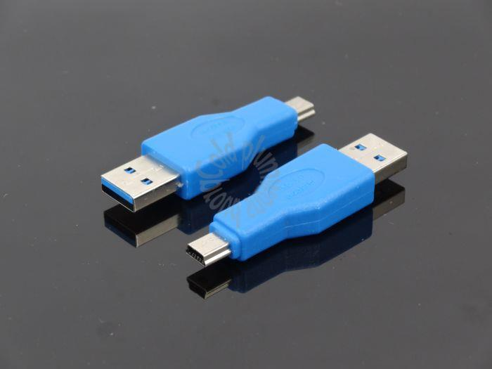 Factory direct USB3.0 USB Mini 10P male turn female adapter mini adapter high-speed data transfer