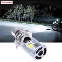 2 lâmpadas em 20w 2000lm led farol para moto h4 hs1 super branca maior alcance (chips de cree)