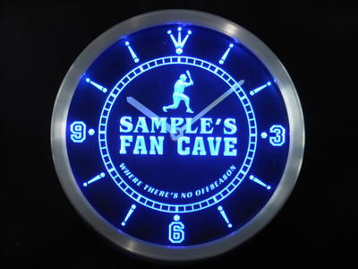 nctc-tm Name Personalized Custom Baseball Fan Cave Man Room Neon Sign LED Clock Wholesale Dropshipping