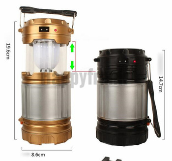 Portable Lantern LED Lamp Light Outdoor Solar Powered Camping Lights Rechargeable Flashlight Torch for Camping Hiking Tent 4