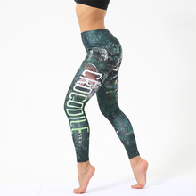 Sexy Letter Printing High Waist Women Push Up Leggings Hip Fitness Elasticity Work Out Female Sports Casual Clothes