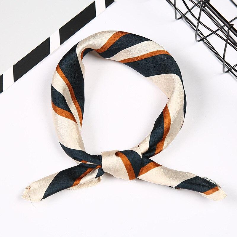 Hot Sale Small Square Satin Scarf Artifical Silk Scarf Foulard Femme Elegant Women's Wrap Handkerchief Bandana Accessories
