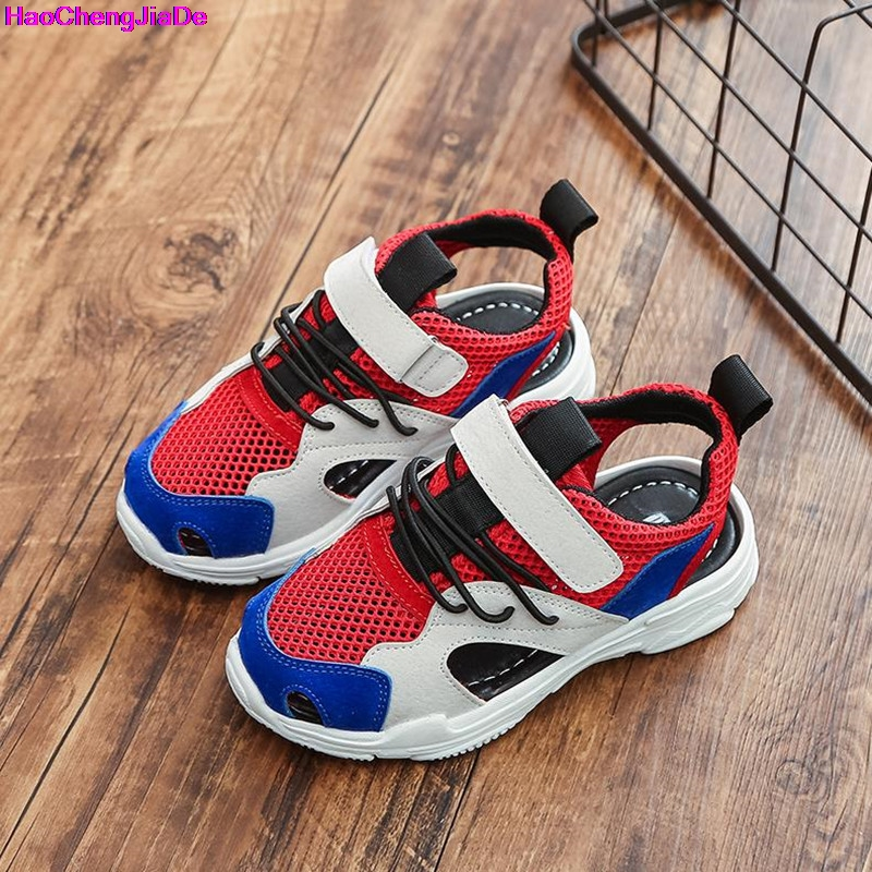 HaoChengJiaDe Kids New Kids Sandals For Boys And Girls Summer Children Beach Shoes Fashion Hook-and-Loop Kids Casual Shoes Flat ...