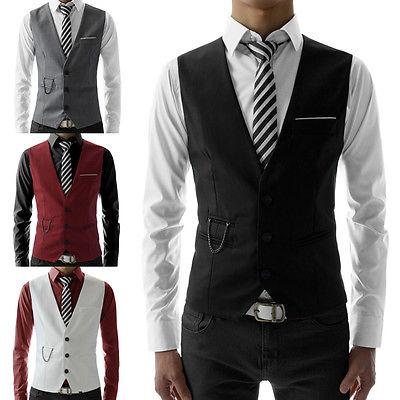 Compare Prices on Slim Fit Men Suit Vest Waistcoat- Online ...