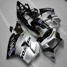 חרטום ABS אופנוע מותאם אישית עבור VFR800 1998 1999 2000 2001 VFR 800 98 01 + Botls + כסף M2
