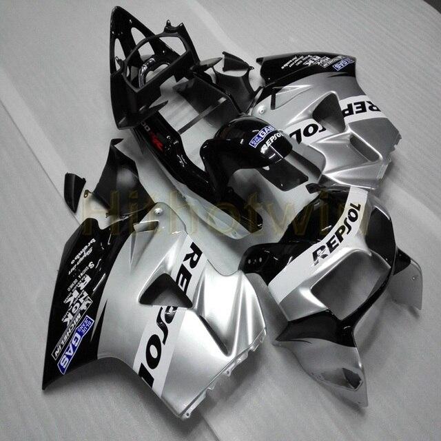 Custom motorcycle ABS Fairing for VFR800 1998 1999 2000 2001 VFR 800 98 01+Botls+silver M2