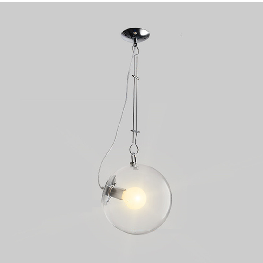 Modern lamp Pendant light glass bubble ball Indoor lighting 25cm/30cm Hanging Restaurant Bedroom LED decoration light fixture hot sale ball pendant light fixture small black or white pendant lamp lighting hanging restaurant lamp free shipping