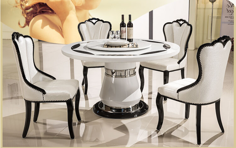 Ou eat chair recreational chair Korean white PU leather solid wood chair dining room chair contracted europe type solid wood dining chair the pu chair chair korean meal