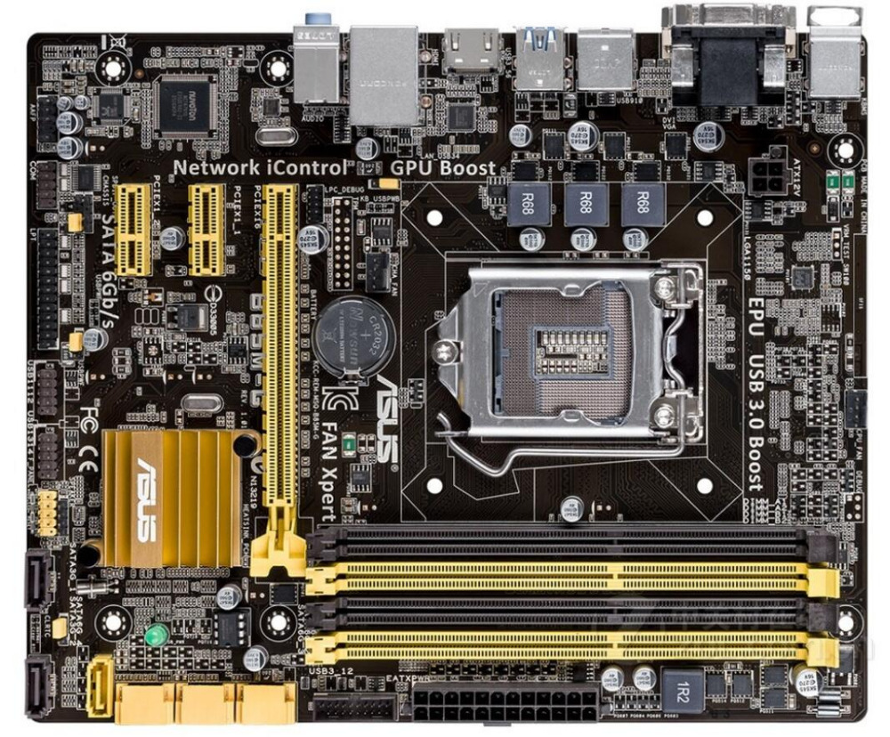 ASUS original desktop motherboard B85M-G DDR3 Socket LGA 1150 motherboard Solid-state integrated free shipping original motherboard yeston a78l men edition am3 ddr3 938 pin rs780l board fully integrated desktop motherboard free shipping