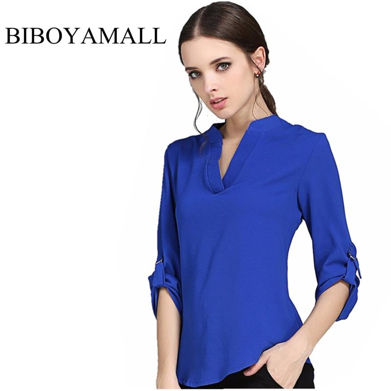 BIBOYAMALL Blusas de Las Mujeres de Moda Blusa de La Gasa Shirts mujeres tops So