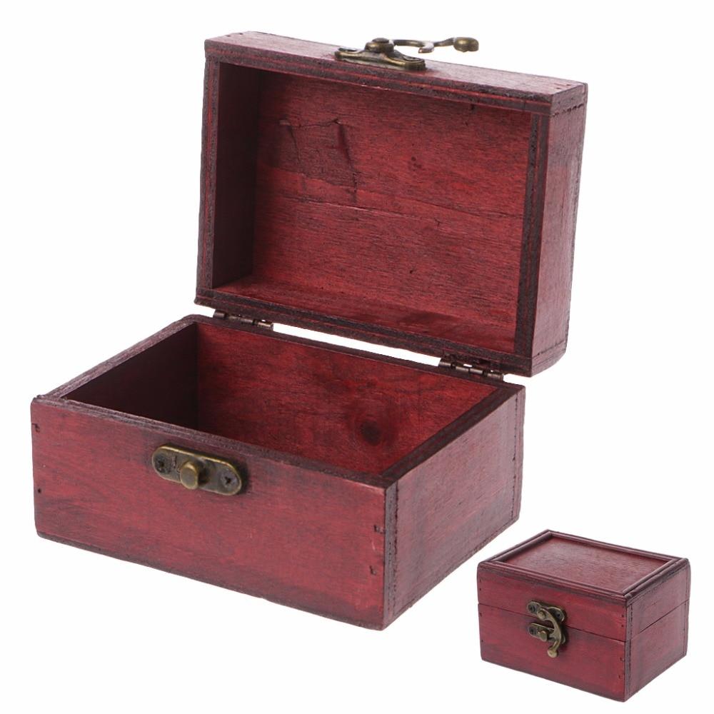 Classic Wooden Sqaure Jewelry Storage Box Trinket Organizer Handmade Case Organizador Makeup Organizer Box