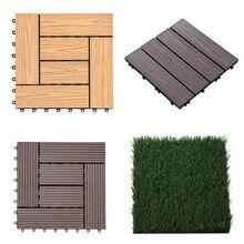 Антикоррозийные деревянные напольные покрытия для сада, балкона, водостойкие Нескользящие напольные плитки из цельного дерева