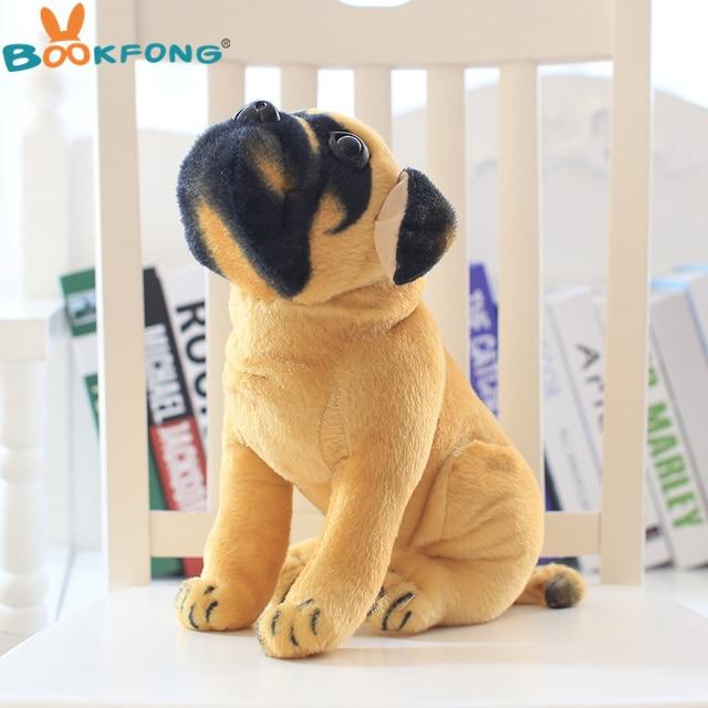 Bookfong Lovely Simulation Squat Pug Dog Plush Toy Cute Stuffed