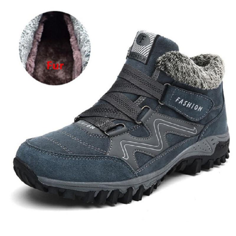 Bottes Anti De Chaussures Peluche Hiver 48 D'hiver Grande Hommes Chaud 38 bleu Sécurité Taille dérapage Supérieure Noir En Qualité B84xwrE8qH