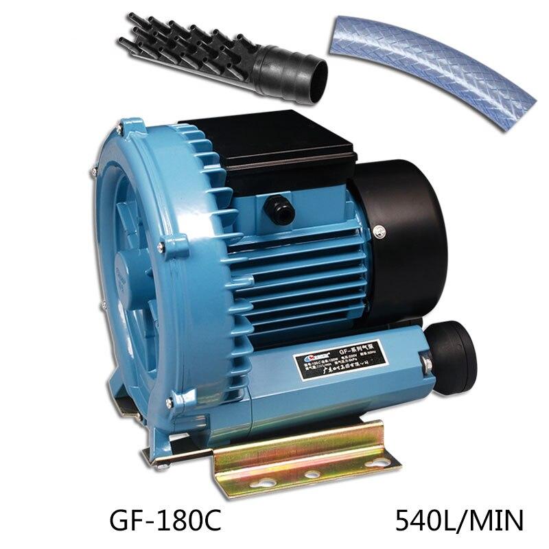 180 W 540L/min RESUN GF-180C Frutos Do Mar Do Aquário Compressor de Ar de Alta Pressão Ventilador de Ar Turbo Elétrico Koi Lagoa Ar bomba aerador