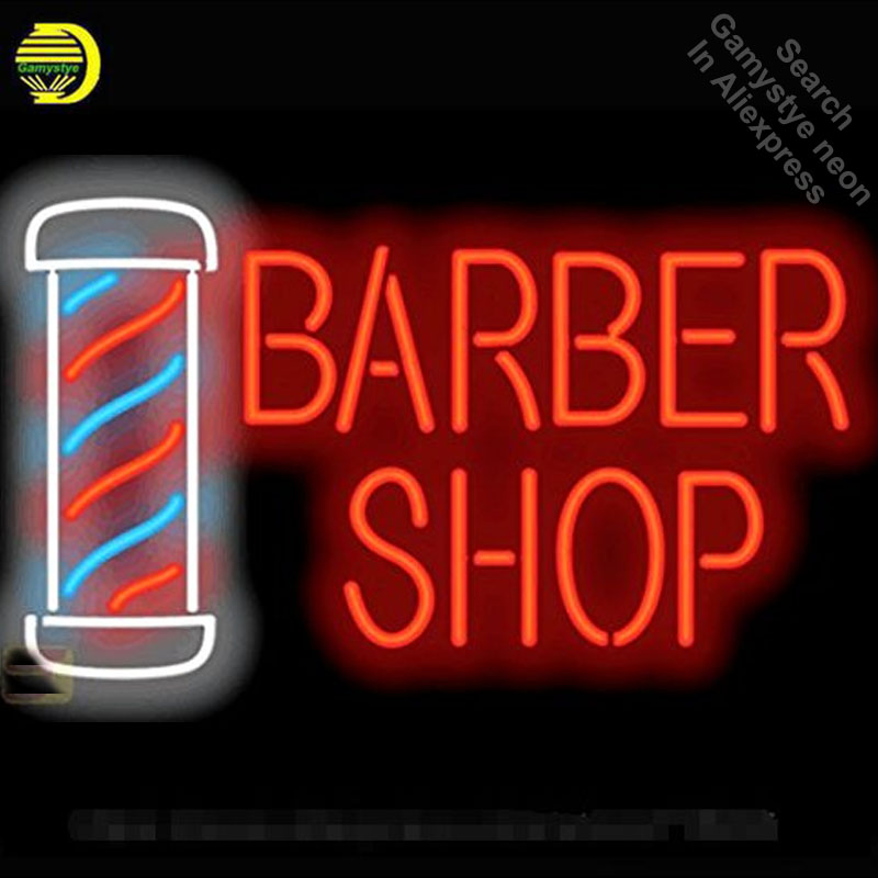 Neon Sign for Barber Shop Pole neon bulb Sign Beer Bar Pub Neon lights Sign glass Tube Iconic Advertise Night Light Display|Neon Bulbs & Tubes| |  - title=