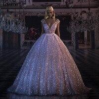 New Arrival vestido de festa longo Dress Elegant Formal Evening Dresses 2018 New Couture Puffy Wedding Party Dress Gala Jurken