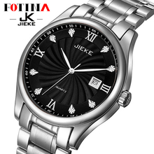 FOTINA Top Brand JK Watch Men Clock Fashion Men Watch Full Stainless Steel Quartz Watches Luxury Black Business Wrist Watch Men