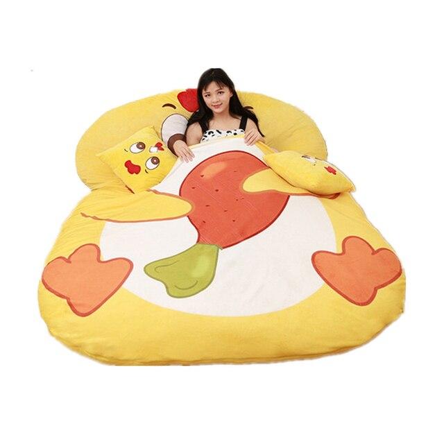 Fancytrader Giant Plush Cartoon Animal Chicken Tatami  Stuffed Soft Beanbag Bed Carpet Mat Sofa