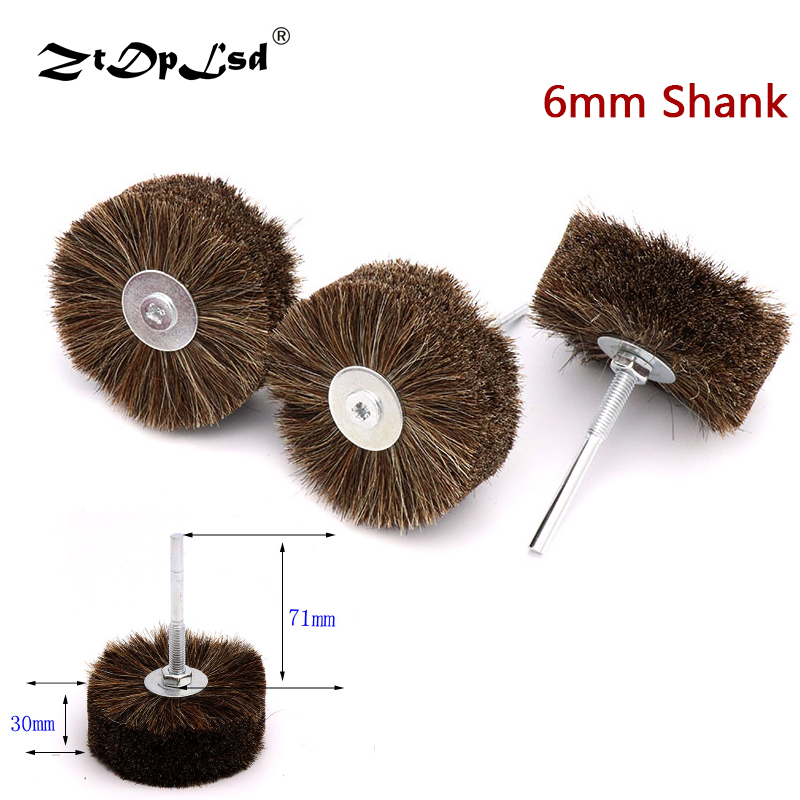 ZtDpLsd 1X Horse Hair Wheel Brush Abrasive Wire Grinding Flower Head Woodworking Polishing Bench Grinder For Wood Furniture Tail