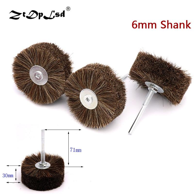 ZtDpLsd 1X Horse Hair Wheel Brush Abrasive Wire Grinding Flower Head Woodworking Polishing Bench Grinder For Wood Furniture Tail