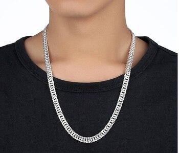 ee16768c8b51 LJ y OMR collar al por mayor de la plata esterlina 925 joyería de plata  CADENA DE Horsewhip 10mm Mens collar 20 22 24