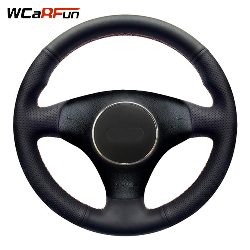 WCaRFun Auto Steering Cover Black Artificial Leather Car Steering Wheel Cover for Audi A3 3-Spoke 2000-2003 Audi TT 1999-2005 модель автомобиля 1 18 motormax audi tt coupe