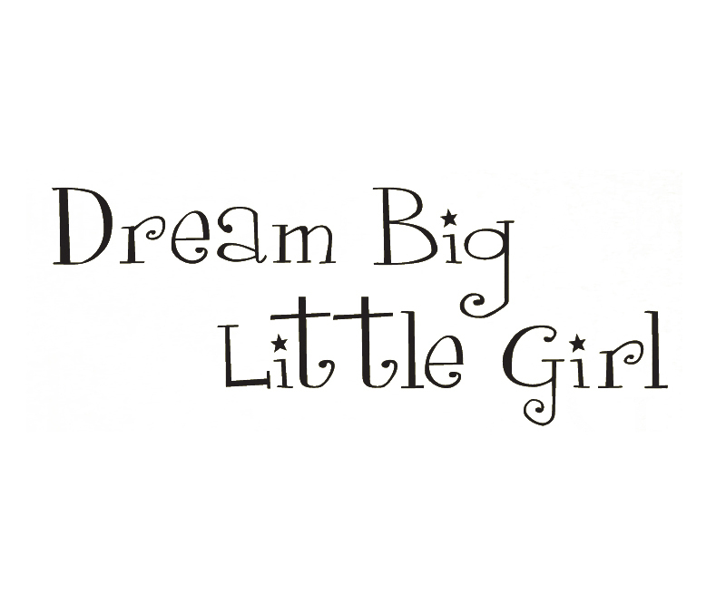 Wall Decal Sticker Quote Vinyl Lettering Dream Big Little Girl