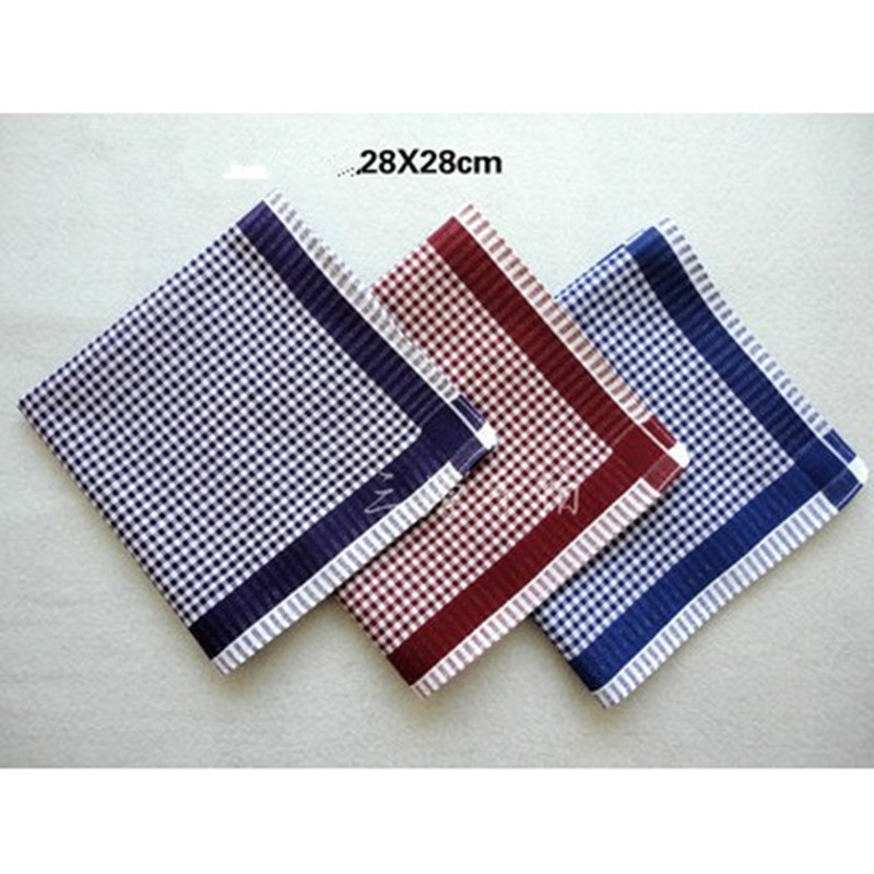 Child's Handkerchief Cotton Handcuffs Pocket Towel Handkerchief 12Pcs/Lot