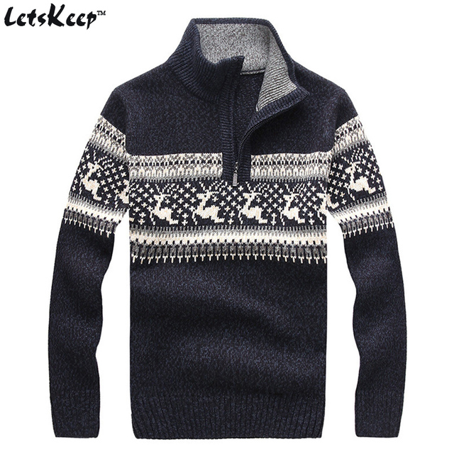 new letskeep 2018 mens christmas deer sweaters wool turtleneck sweater men pullover thick knitted christmas sweater - Christmas Sweaters Men